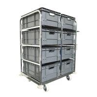 Carro de pedidos con 8 cajas Euronorm 64576