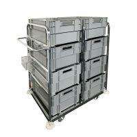 Carro de pedidos con 8 x cajas apilables 69721