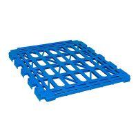 Estante azúl de plástico para roll containers de 2 laterales