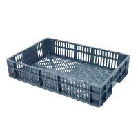 Caja de plástico apilable Euronorm 600x400x120mm perforada