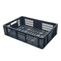 Caja de plástico apilable Euronorm 600x400x150mm perforada