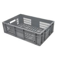 Caja de plástico apilable Euronorm 600x400x170mm perforada