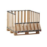 Caja de madera MP con ventana plegable 1200x1000x800mm