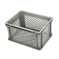 Caja de plástico apilable Euronorm 357x255x220 mm perforada