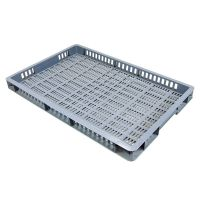 Caja de plástico apilable Euronorm 600x400x50mm perforada