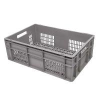 Caja de plástico apilable Euronorm 600x400x200mm perforada