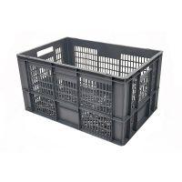 Caja de plástico apilable Euronorm 600x400x320mm perforada