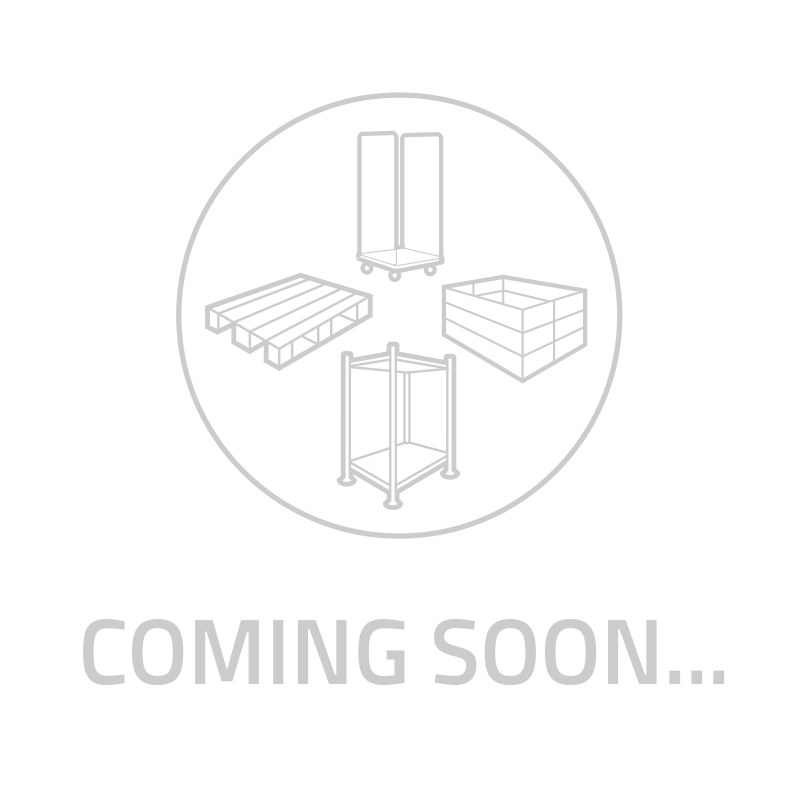 Caja de plástico apilable Euronorm 600x400x80mm cerrada