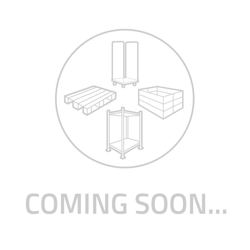 Caja de plástico apilable 605x497x401mm con asas abiertas