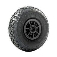 Carretilla con rueda hinchable para carretillas 260x85mm diámetro 25mm