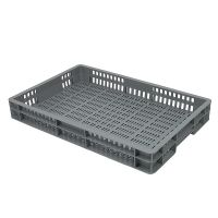 Caja de plástico apilable Euronorm 600x400x80mm perforada