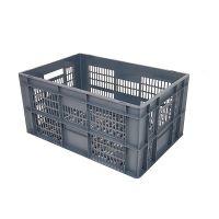 Caja de plástico apilable Euronorm 600x400x290mm perforada