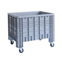 Paletbox de plástico 1200x800x800mm cerrado con 4 ruedas
