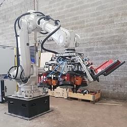 Automatización de la producción: un nuevo robot para producir palets en el Grupo Rotom.