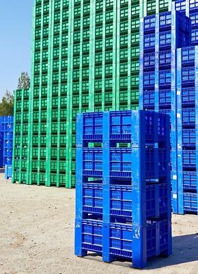 El palet box de plástico, la mejor solución para el almacenaje de alimentos