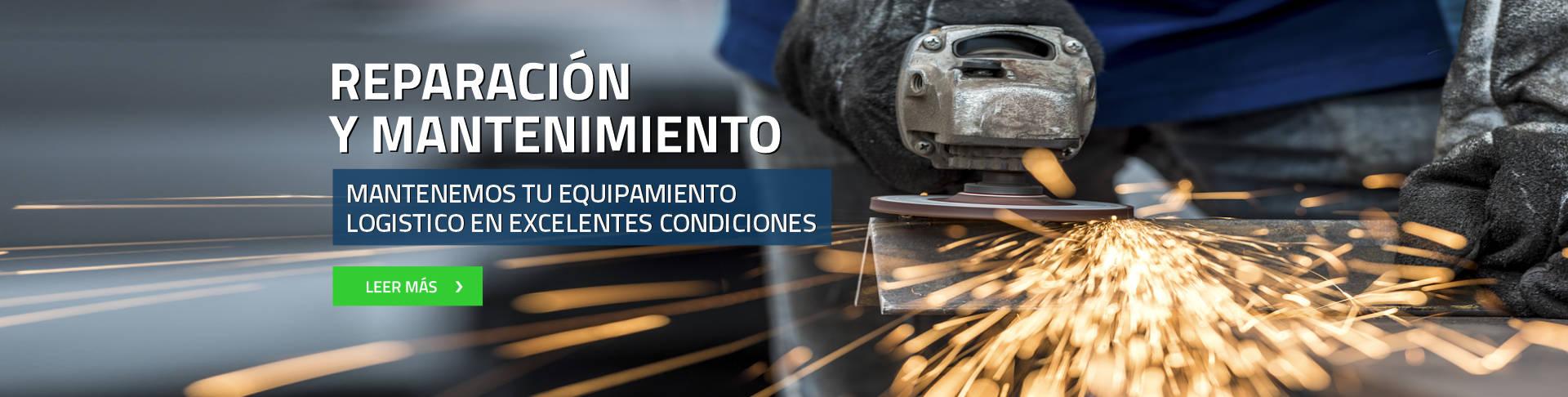 Reparación y mantenimiento mantenemos tu equipamiento logistico en excelentes condiciones